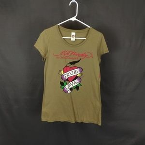 Large Ed Hardy Olive T Shirt